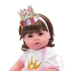 Other - 1 2 3 Birthday Girl Headband Crown